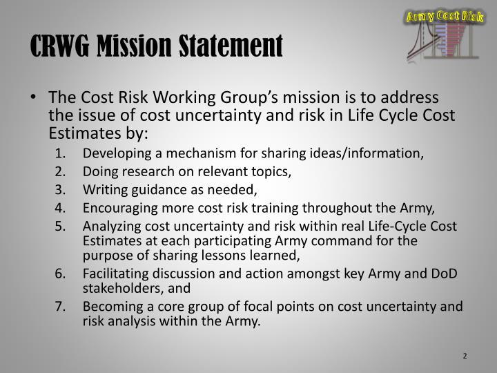 Crwg mission statement