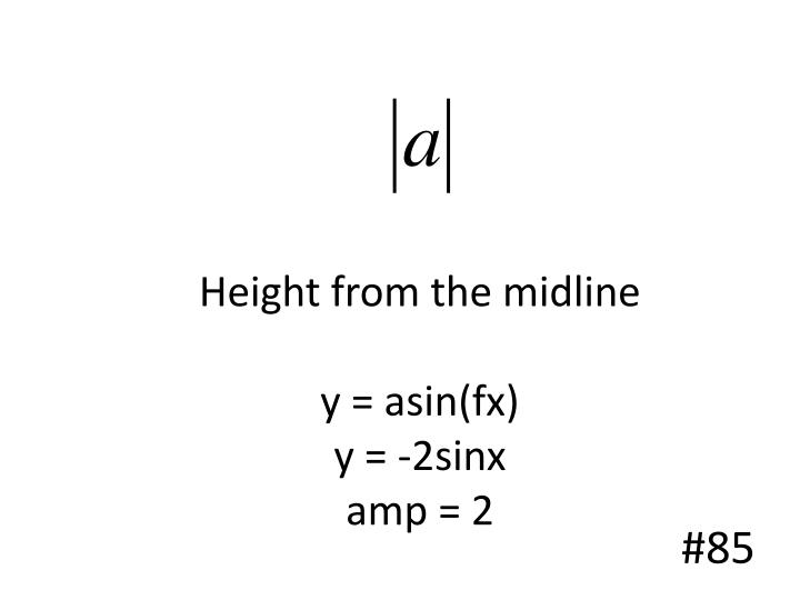 Height from the midline