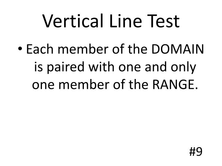 Vertical Line Test