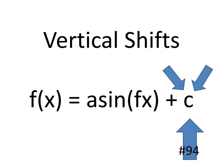 Vertical Shifts