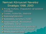 nemzeti k rnyezeti nevel si strat gia 1998 2003