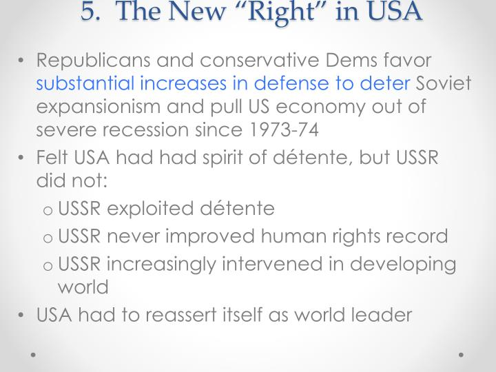"""5.  The New """"Right"""" in USA"""
