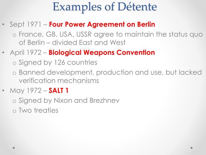 Examples of Détente
