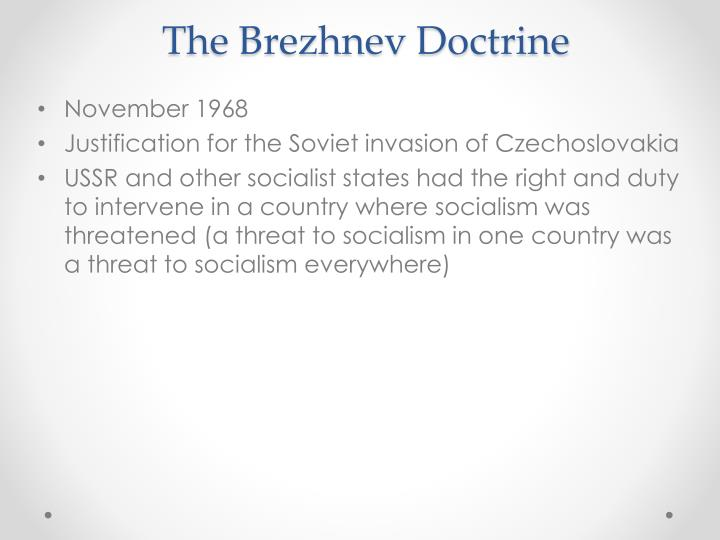The Brezhnev Doctrine