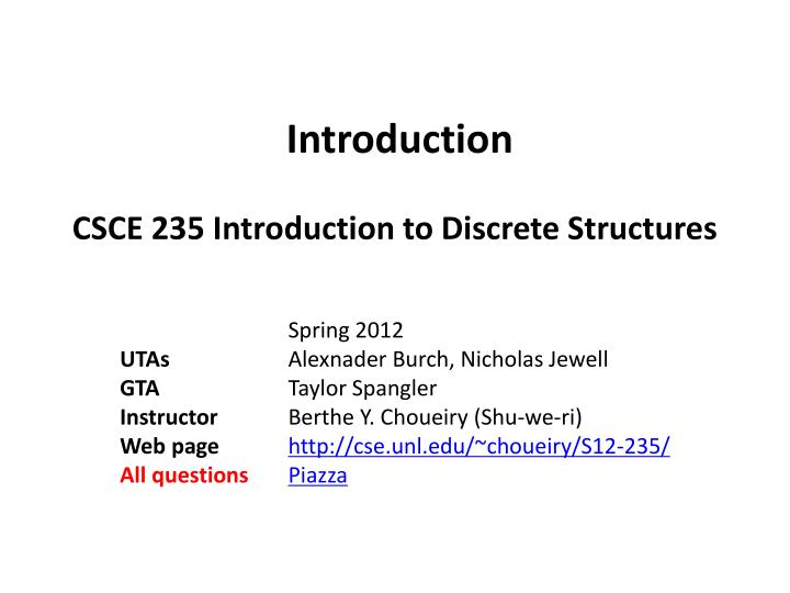discrete structure question answers Chapter 0 preface this booklet consists of problem sets for a typical undergraduate discrete mathematics course aimed at computer science students.