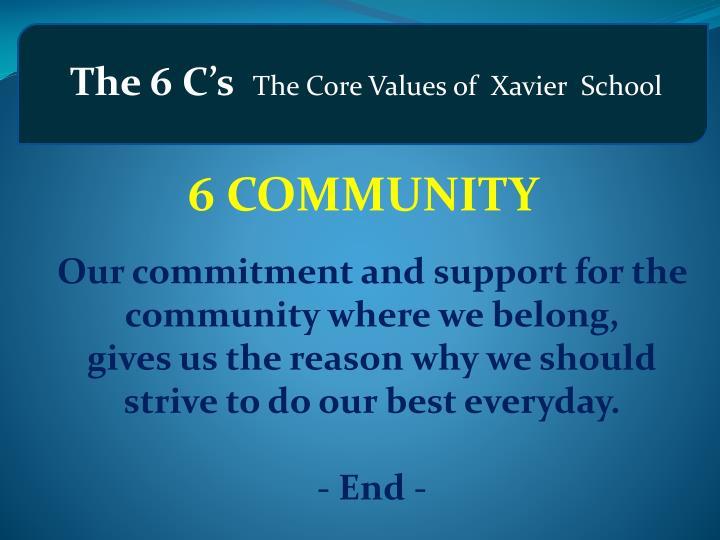 The 6 C's
