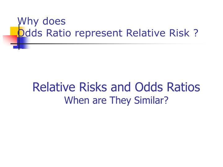 nested case control study relative risk Strengths & weaknesses of case-control studies in a case nested case-control studies a nested case the rate ratio and risk ratio (relative risk.