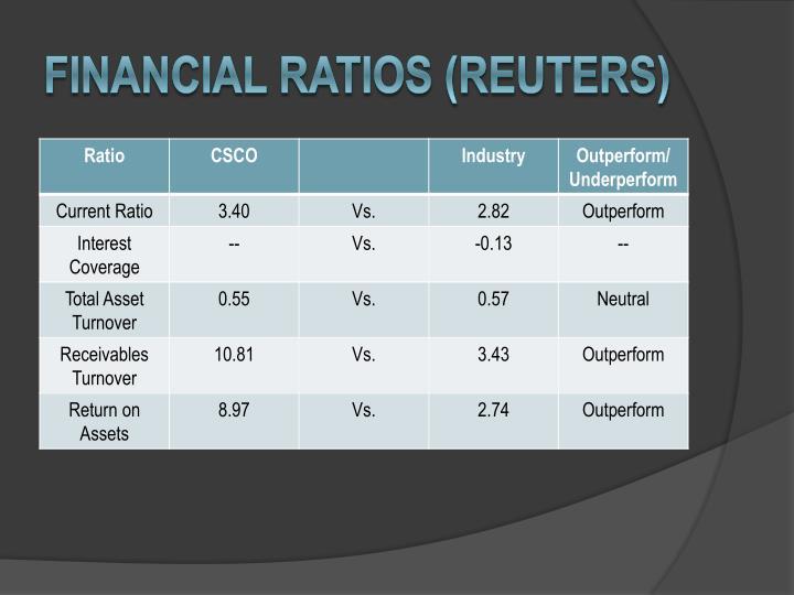Financial ratios (Reuters)