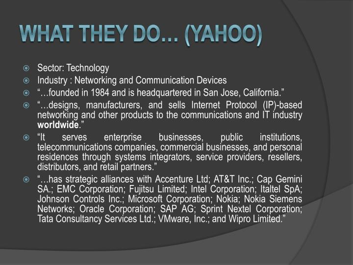 What they do yahoo