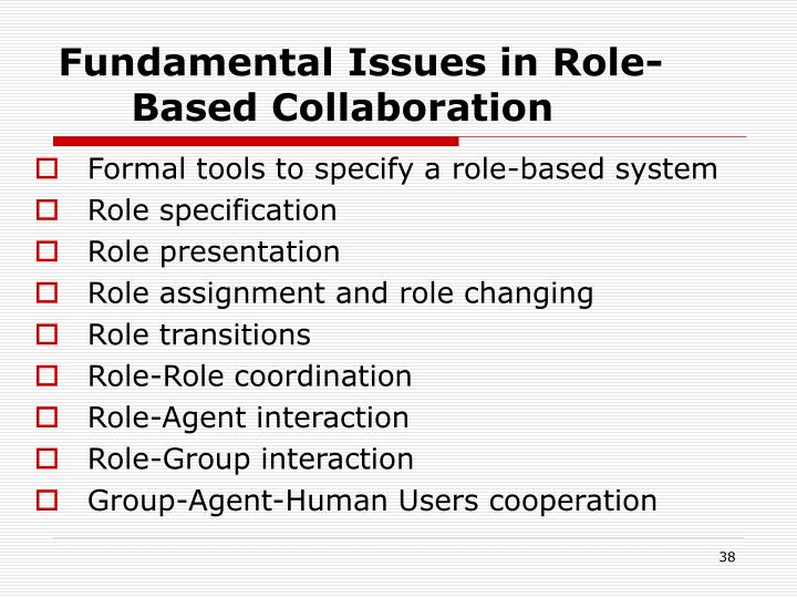 Fundamental Issues in Role-Based Collaboration
