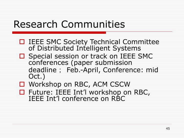 Research Communities