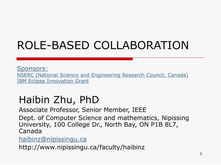 ROLE-BASED COLLABORATION