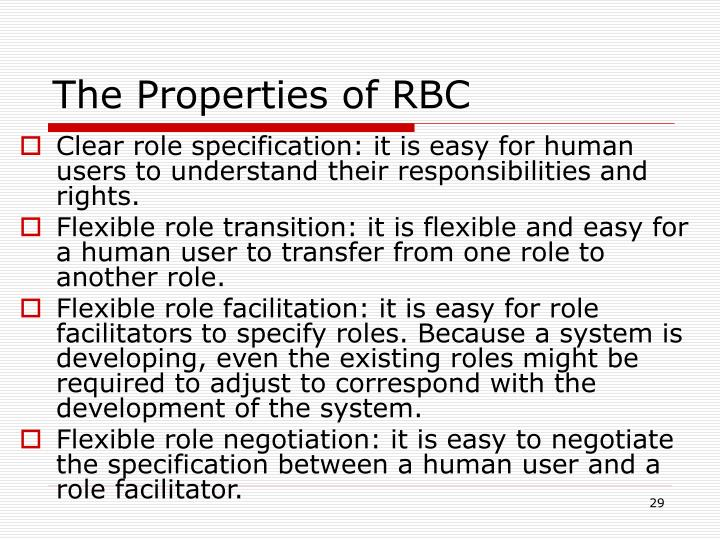 The Properties of RBC