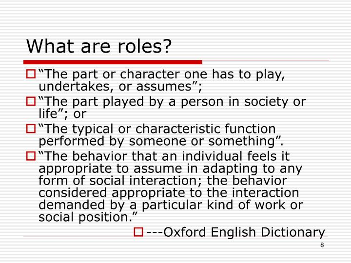 What are roles?