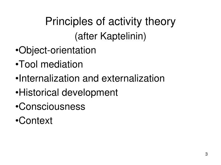 Principles of activity theory