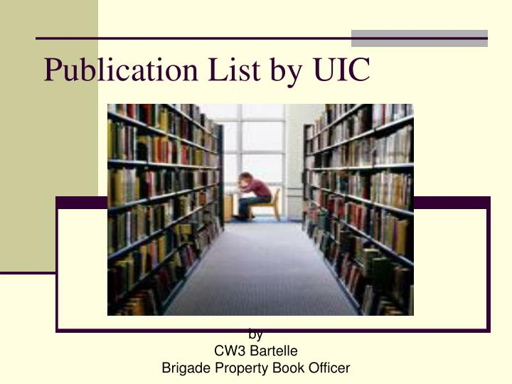 Publication list by uic
