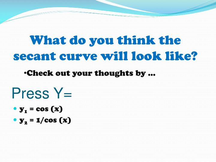What do you think the secant curve will look like?