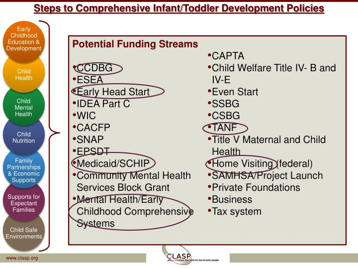 Steps to Comprehensive Infant/Toddler Development Policies