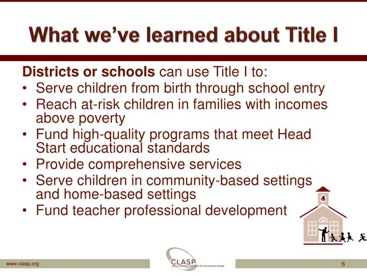 What we've learned about Title I