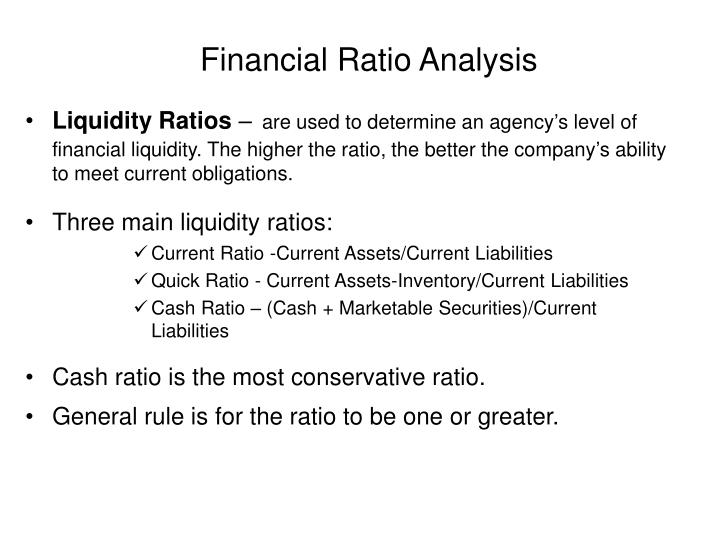 financial ratio analysis bigger isn t always better
