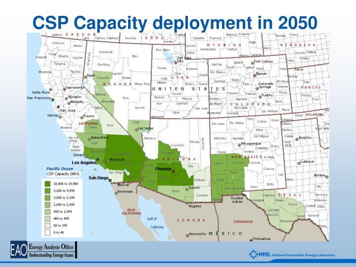 CSP Capacity deployment in 2050