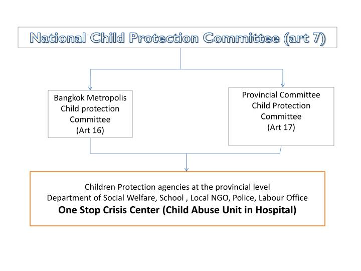 National Child Protection Committee (art 7)