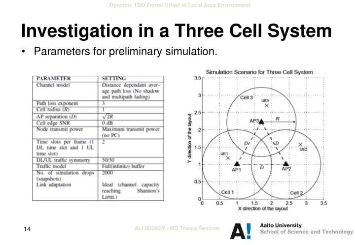 Investigation in a Three Cell System