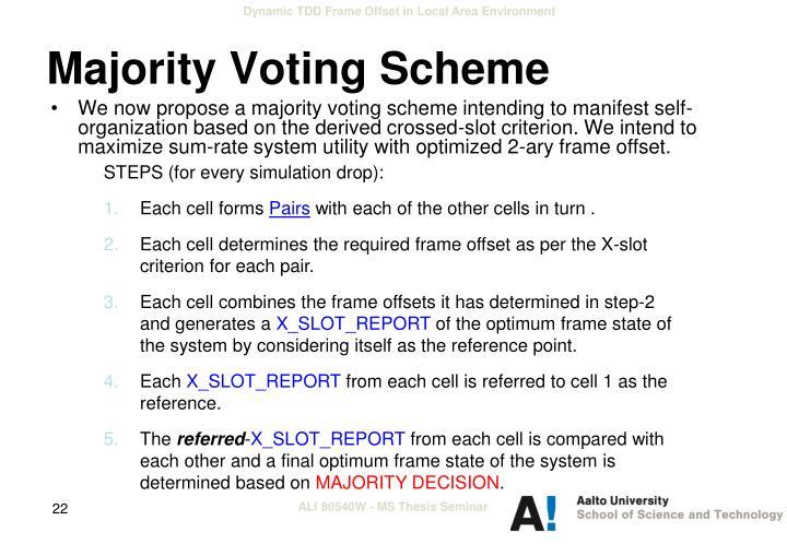Majority Voting Scheme