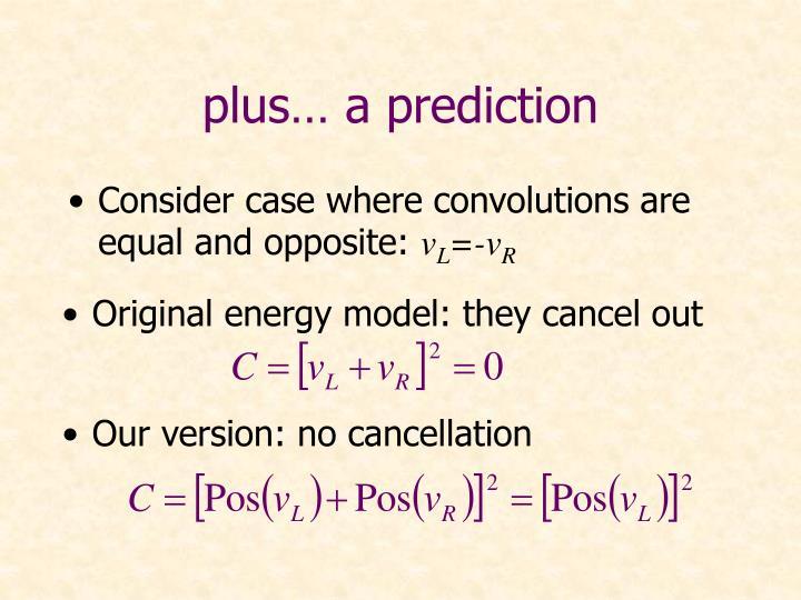 plus… a prediction