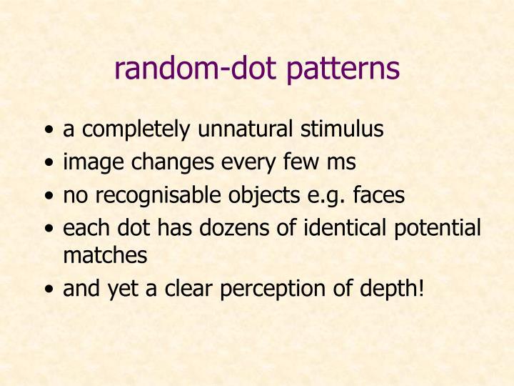 random-dot patterns