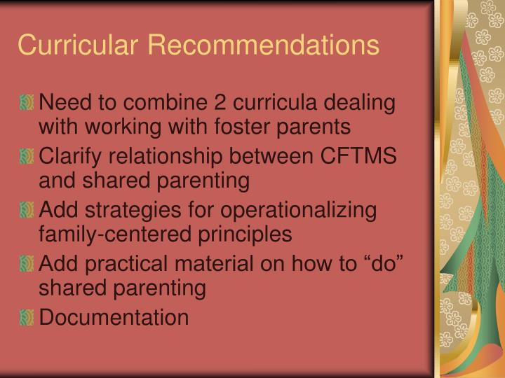 Curricular Recommendations