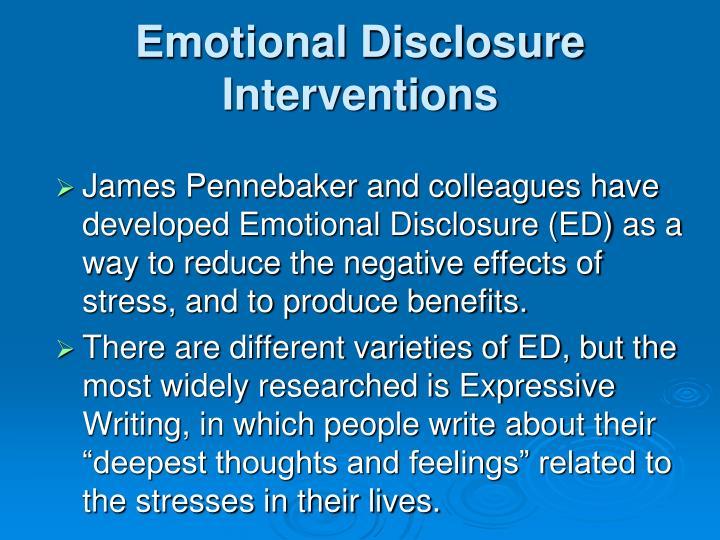 Emotional Disclosure
