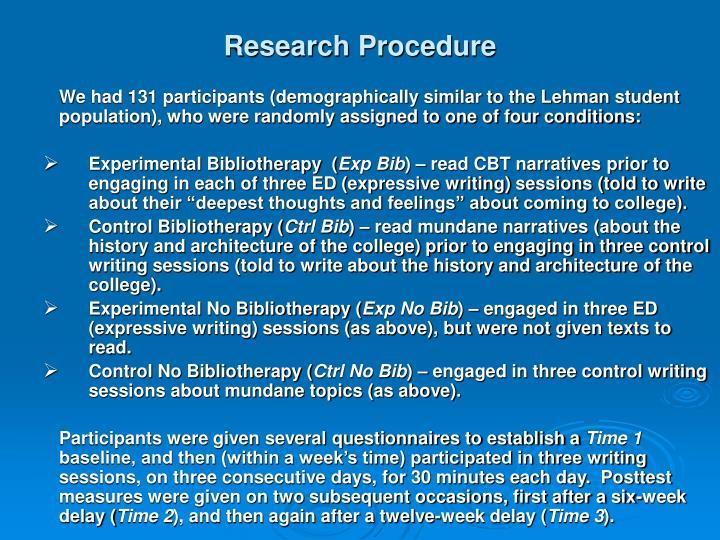 Research Procedure