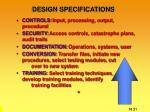 design specifications1