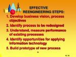 effective reengineering steps