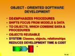 object oriented software development