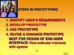 steps in prototyping