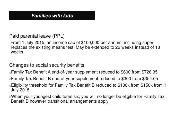 Paid parental leave (PPL)