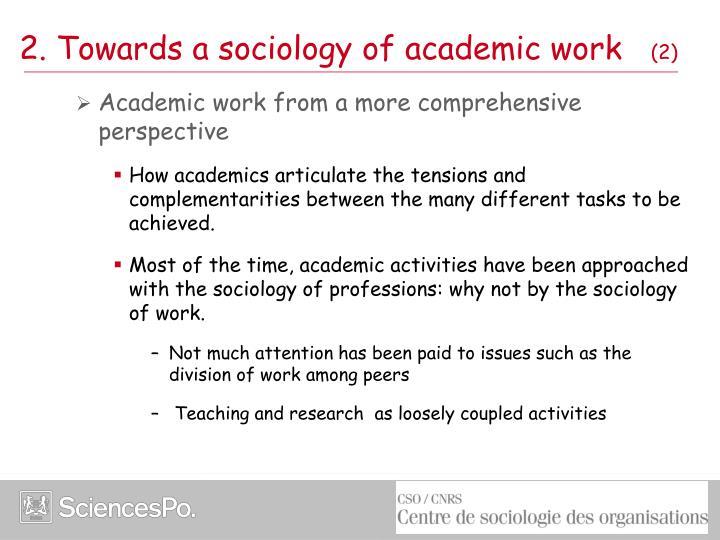 2. Towards a sociology of academic work