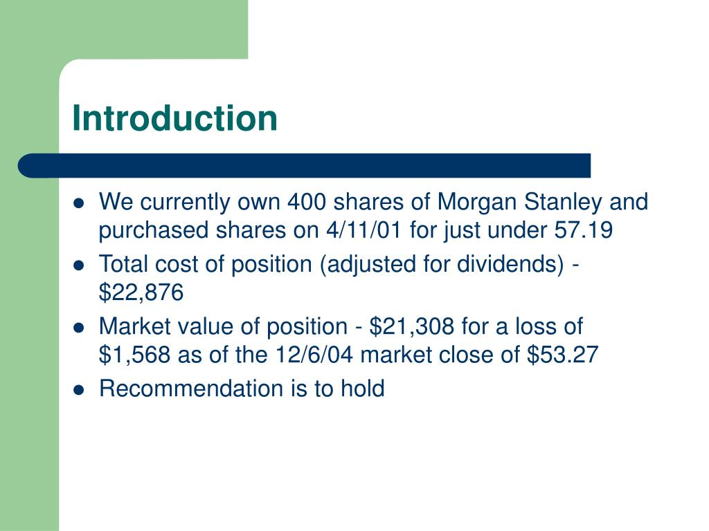 PPT - Morgan Stanley PowerPoint Presentation - ID:4005356