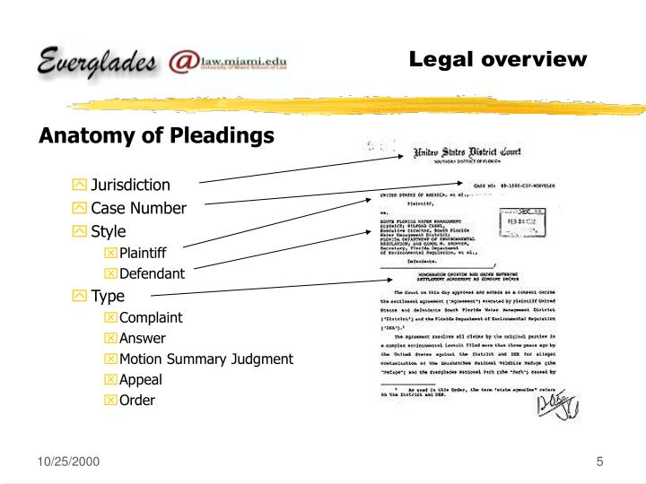 Legal overview