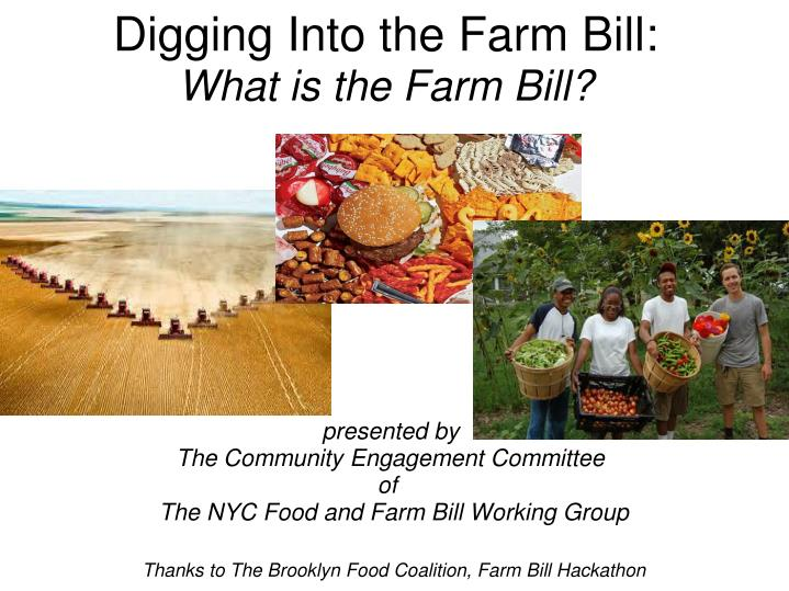 digging into the farm bill what is the farm bill n.