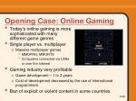 opening case online gaming