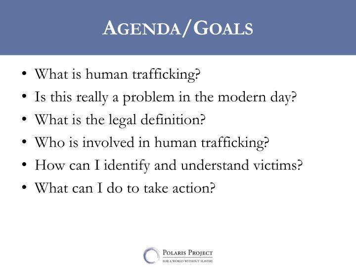 Agenda/Goals
