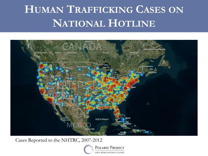 Human Trafficking Cases on National Hotline