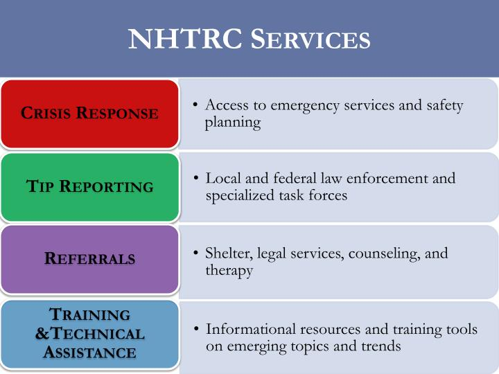 NHTRC Services