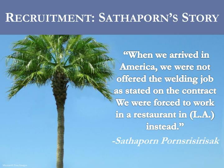 Recruitment: Sathaporn's Story