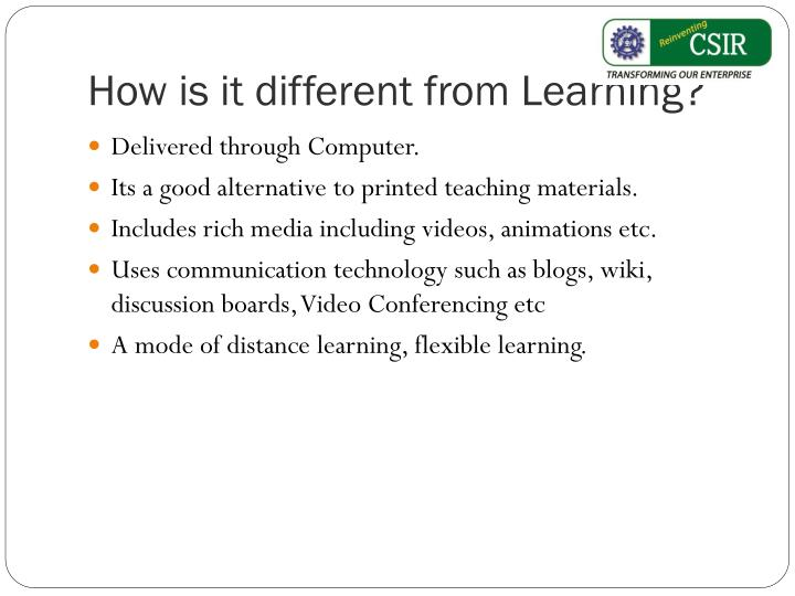 How is it different from learning