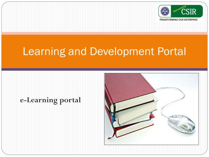 Learning and development portal