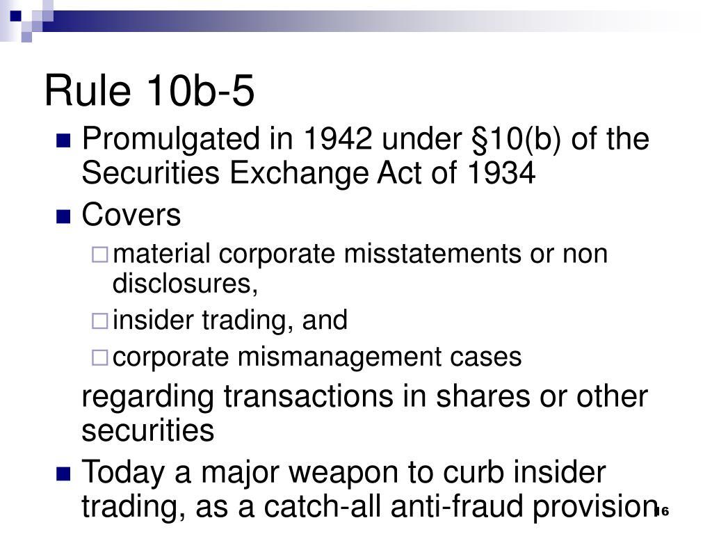 sec rule 10b 5 insider trading
